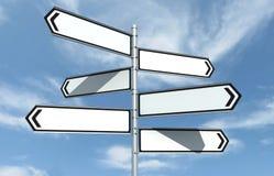 Crossroad Signpost Stock Image