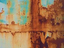 Crossroads. Croaaroads - Urban Decay can be abstract and beautiful!  This image is rust on the weld of a fuel tank, resembling a canyon wall reflecting in a Royalty Free Stock Photography
