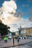 Crossroads Admiralty Embankment , St. Petersburg, Russia. Royalty Free Stock Photography