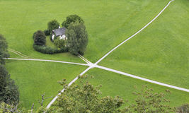 Crossroads in Alps of Salzburg Royalty Free Stock Image
