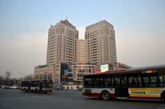 Crossroads in beijing. The five rings at the crossroads of Beijing in China Stock Image