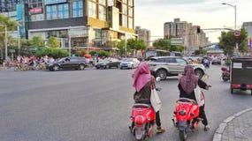 Crossroads of beijing stock photography