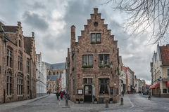 At the crossroads. Bruges - Belgium jewel and one of the most romantic cities on earth Stock Photo