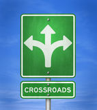 Crossroads. Change opportunity - road sign illustration Royalty Free Stock Image