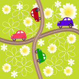 Crossroads with children's machines Stock Photography