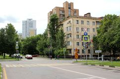 Crossroads on Dmitri Ulyanov Street. Photos of the series: `Tour of Moscow` July 2, 2017 Stock Photography