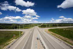 Crossroads (fate). Crossroads as fate in a summer day royalty free stock photography