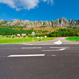 Crossroads. In the French Alps royalty free stock images