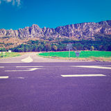 Crossroads. In the French Alps, Instagram Effect Stock Images