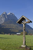 Crossroads in Garmisch Stock Images