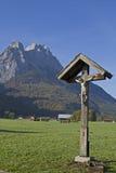 Crossroads in Garmisch stock images