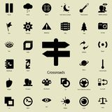 Crossroads icon. Detailed set of minimalistic icons. Premium graphic design. One of the collection icons for websites, web design. Mobile app on white vector illustration