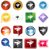 Crossroads Icon Set Royalty Free Stock Photo