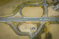 Crossroads, junction, intersection royalty free stock photo
