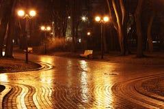 Crossroads in Mariinsky park Royalty Free Stock Photo