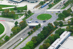 Crossroads in Munich Stock Images