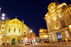 The crossroads near the Sao Bento Railway Station of Porto city Royalty Free Stock Photo