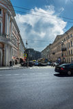 Crossroads on Nevsky Prospekt, St. Petersburg, Russia Stock Images