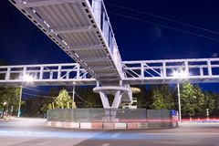Cityscape crossroad night Stock Photo