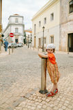 Crossroads in old town Royalty Free Stock Photo