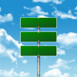 Crossroads road sign Royalty Free Stock Photos