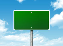 Crossroads road sign Stock Photo