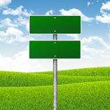 Crossroads road sign Stock Image