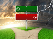 Crossroads road sign vector illustration