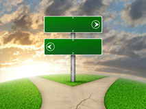 Crossroads road sign Royalty Free Stock Image