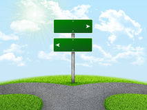 Crossroads road sign Royalty Free Stock Photography