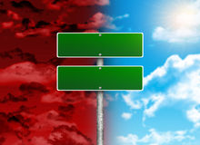 Crossroads road sign Royalty Free Stock Photo