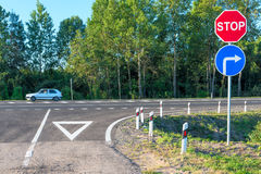 Crossroads of rural road Royalty Free Stock Photography