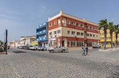Crossroads Sal Rei Cape Verde stock photography