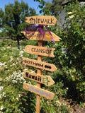 Crossroads. Sign, Heather Farm Park, Walnut Creek Stock Image