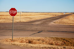 Crossroads (Stop sign) Stock Image