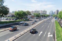 Crossroads traffic of beijing royalty free stock image