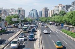 Crossroads traffic of beijing royalty free stock photo