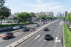Crossroads traffic of beijing royalty free stock photos
