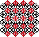 CrossStich白俄罗斯斯拉夫语模式 图库摄影