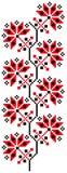 crossstich蛇麻草模式 库存照片