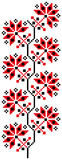 crossstich蛇麻草模式 皇族释放例证