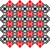 CrossStich-belorussian-slavic-teste padrão ilustração do vetor