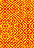 CrossStitch-kolovrat-slavic-pattern Stock Images