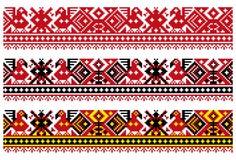 CrossStitch-vogel-Turkije-bloem-ru Royalty-vrije Stock Foto's