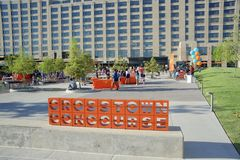 Crosstown Concourse Celebration, Memphis, Tennessee. Crosstown Concourse Event, Crosstown Concourse Shopping and Entertainment District, Memphis, Tennessee, This stock photo