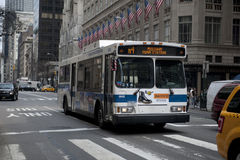 Crosstown Manhattan Bus Royalty Free Stock Photo