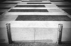 Crosswalk в черно-белом Стоковые Изображения