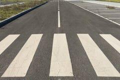 Crosswalk дороги стоковое фото rf