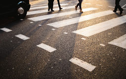 Crosswalk Лондона Стоковое Изображение