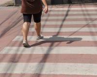 Crosswalk с пешеходным переходом Стоковые Изображения